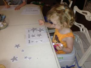 Ella with shells