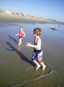 Garrett and Ella at Newport Beach - August 2011
