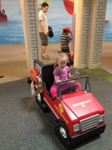 Field Trip Girl Playing In The Fire Truck @ Pretend City