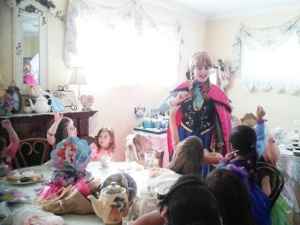 A childten's birthday party at McKenna's Tea Cottage