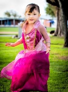 McKenna dressed up as a princess!