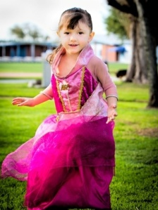 McKenna dressed up as a princess!