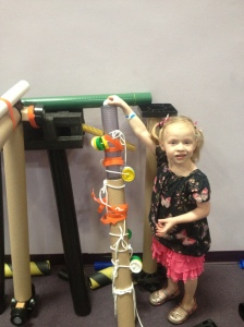 Field Trip Girl Shows Off Her Roller Coaster